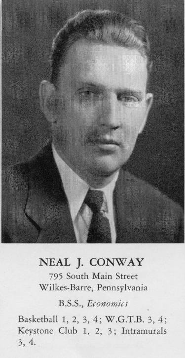 Georgetown Hoyas basketball Class of 1953 Neil Conway Neal Conway