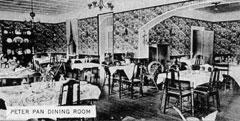 1930s or 40s photo of the dining room which was an addition to the north side of the old house.